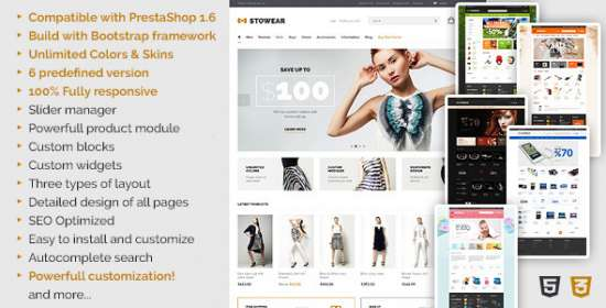 stowear multipurpose prestashop theme