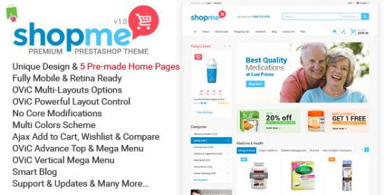shopme multipurpose responsive prestashop theme