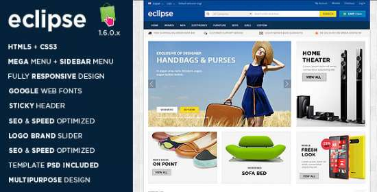 eclipse responsive multipurpose prestashop theme