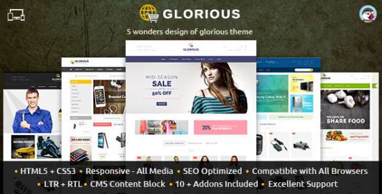 glorious prestashop responsive theme