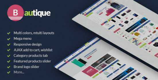 bautique huge shop responsive prestashop theme