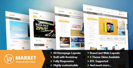 market responsive multipurpose prestashop theme