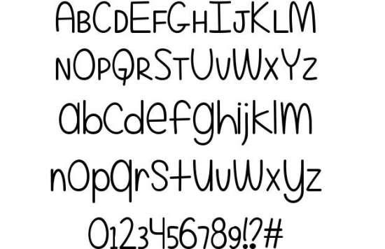 even more mixed up handwritten fonts