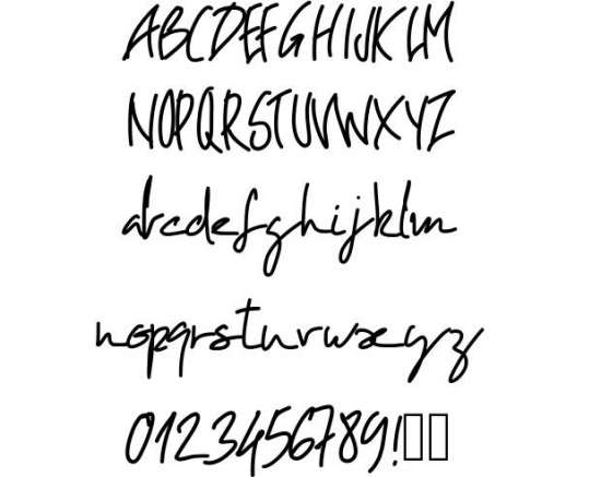 pw oblique handwritten fonts