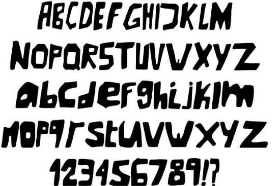 new underground handwritten fonts