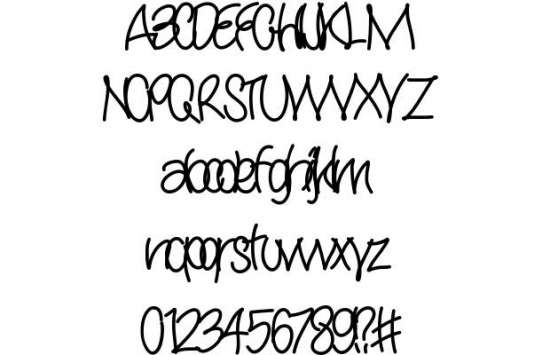 yana handwritten fonts