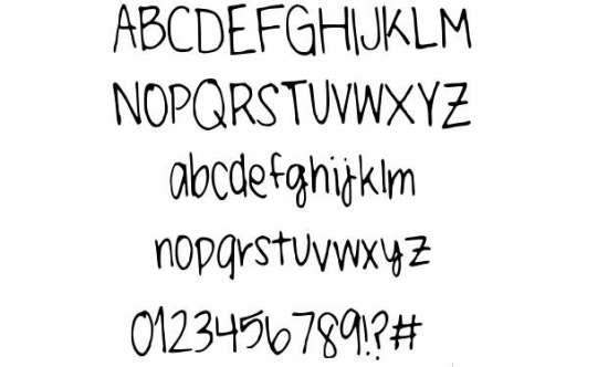 little miss paper moons handwriting handwritten fonts