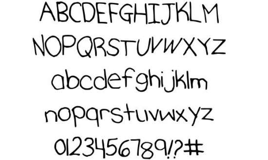 katherines hand handwritten fonts