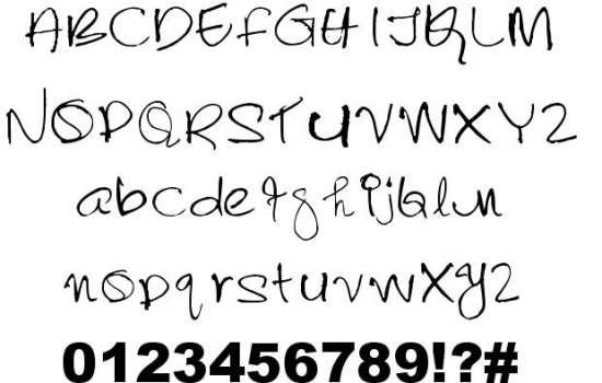 lalithabai handwritten fonts