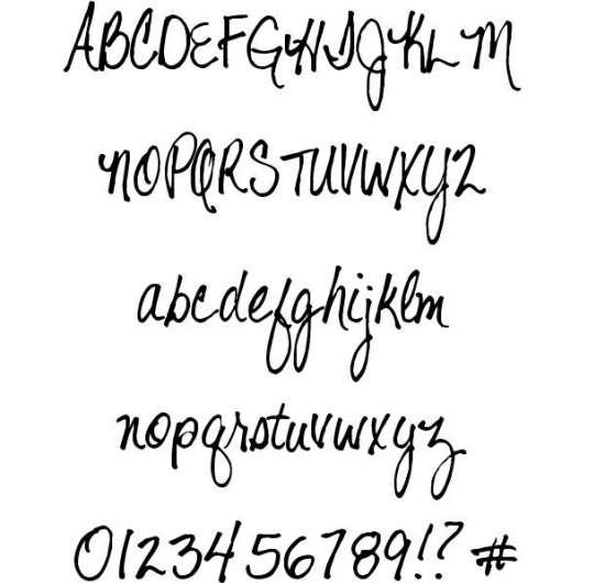 shelter me handwritten fonts