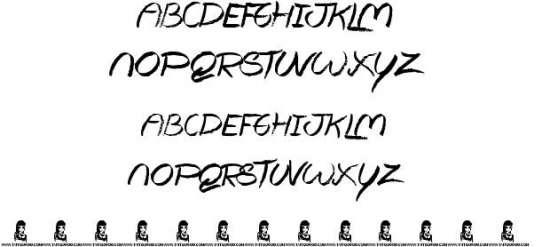 the lovers handwritten fonts