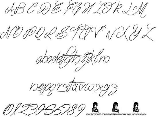 the waddys handwritten fonts