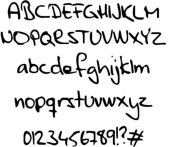 parne handwritten fonts