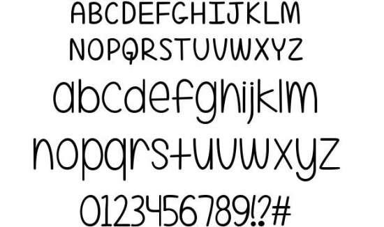 a little mixed up handwritten fonts