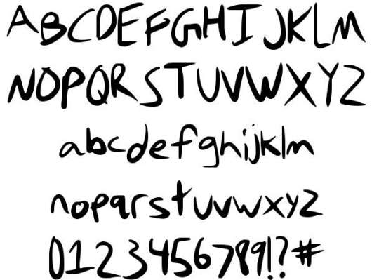 stefanie handwritten fonts