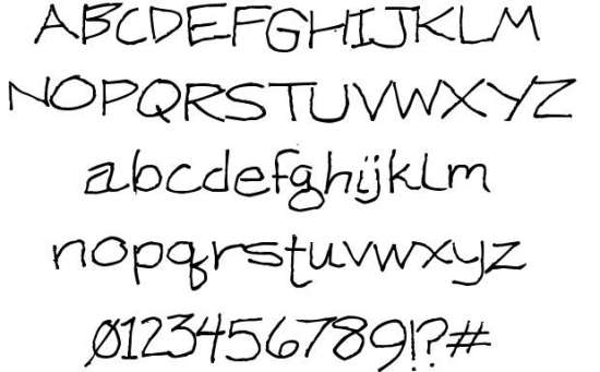 ken weigand handwritten fonts
