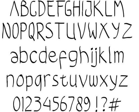 coloroyd bastard handwritten fonts