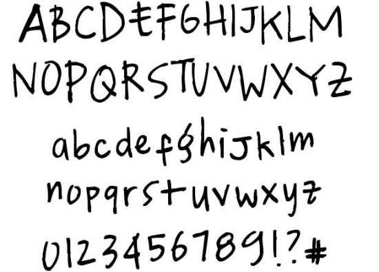 qjae handwritten fonts