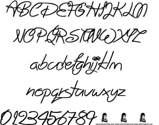 big winks handwritten fonts