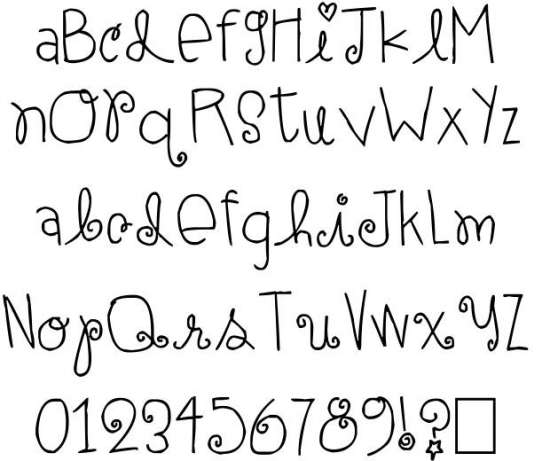 elle ami handwritten fonts