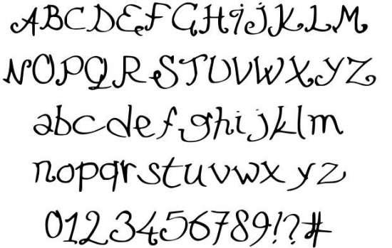 le futur attendra handwritten fonts