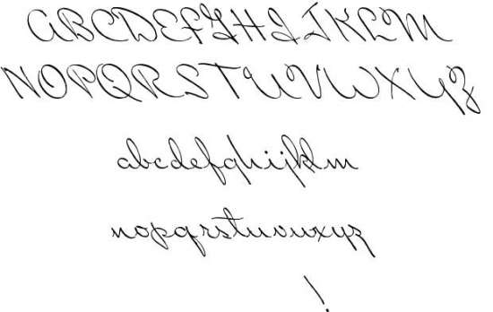perhaps love handwritten fonts