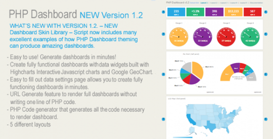 php dashboard new variation 1.2