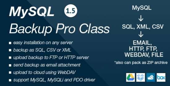 mysql backup pro class