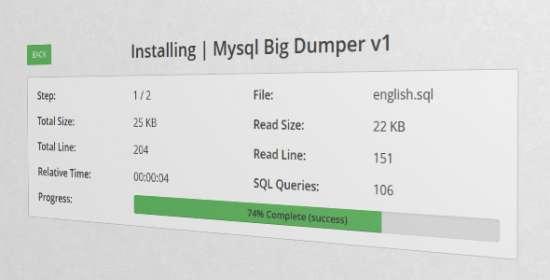 bigsql mysql big dumper