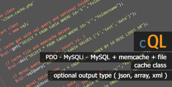 cql best sql pdo mysqli mysql cache class