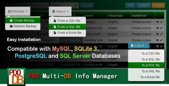pdo multidb info manager