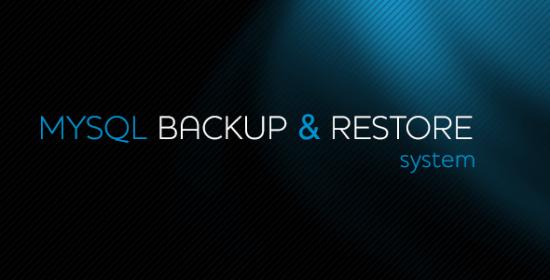 mysql backuprestore system