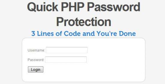 quick php password protection login system