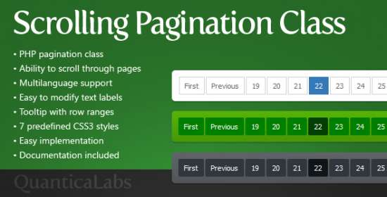 scrolling pagination class