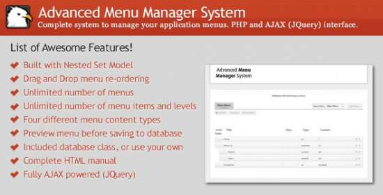 advanced menu supervisor system