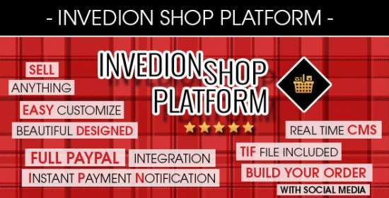 invedion store platform with creator motor and cms