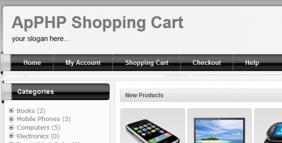 apphp shopping cart application