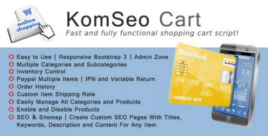 komseo cart fast loading shopping cart application with seo