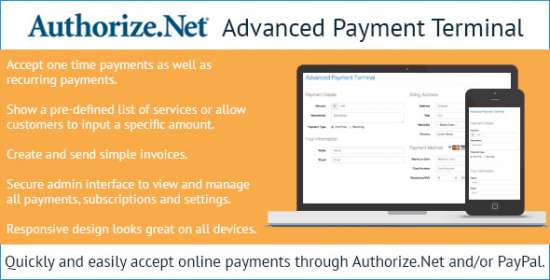 authorize.net advanced payment terminal