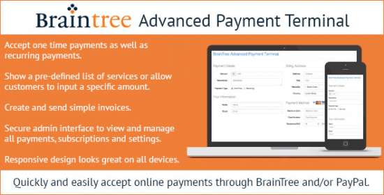 braintree higher level payment terminal