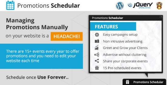 promotions scheduler wordpress plugin