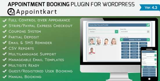 appointment scheduling and scheduling for wordpress appointkart