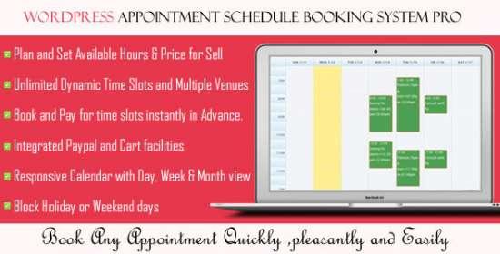 wordpress visit schedule scheduling system pro