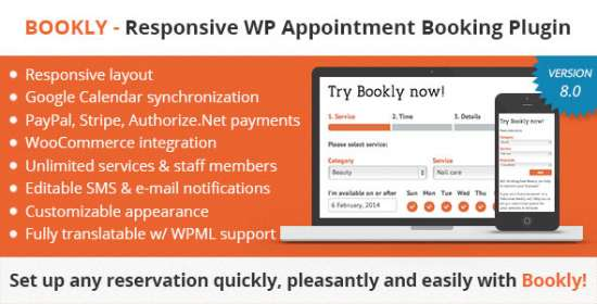bookly guide appointments, guide services, book anything easy and quick scheduling for the consumers