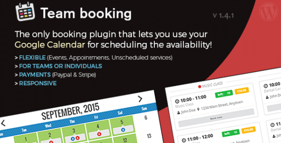 team reserving wordpress booking system