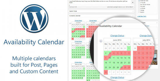 availability calendar and rates table plugin
