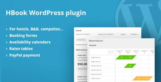hbook resort scheduling system wordpress plugin