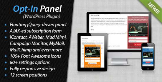 optin panel for wordpress