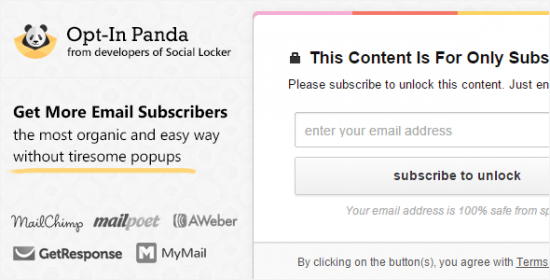 optin panda for wordpress