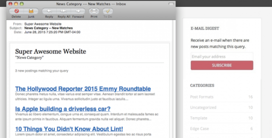 useralerts pro post notifications for wordpress